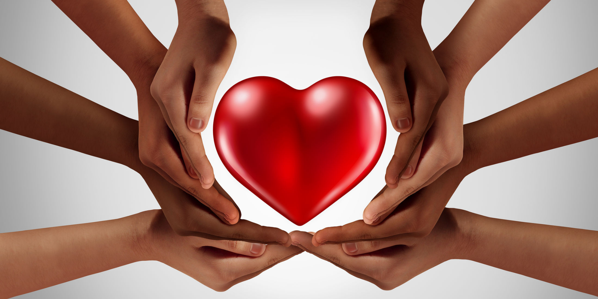 Hart met handen